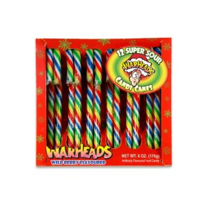Warheads Super Sour Christmas Candy Canes 170g